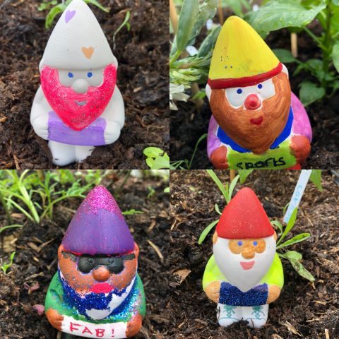 Photo of MYZ's painted gnomes